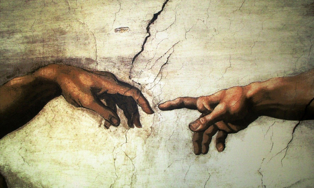 art painting, mural, michelangelo
